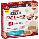 Slimfast Keto Fat Bomb Meal Replacement Bar, Frosted Cinnamon Bun 5-1.66 oz Bars