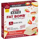 Slimfast Keto Fat Bomb Snack Bar Minis, Strawberry Topped Cheesecake 12-0.67 oz Bars