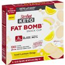 Slimfast Keto Fat Bomb Snack Cup, Iced Lemon Drop 14-0.6 oz Cups