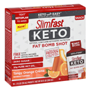 Slimfast Keto Fat Bomb Shot Tangy Orange Creme 10-1 fl oz Packets