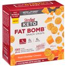 Slimfast Keto Fat Bomb Snack Crisps, Real Cheddar Cheese 6-0.5 oz