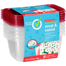 Simply Done 3Cup Soup & Salad Snap & Store Containers & Lids 5Ct