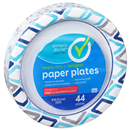 "Simply Done Heavy Duty Designer 10"" Paper Plates"