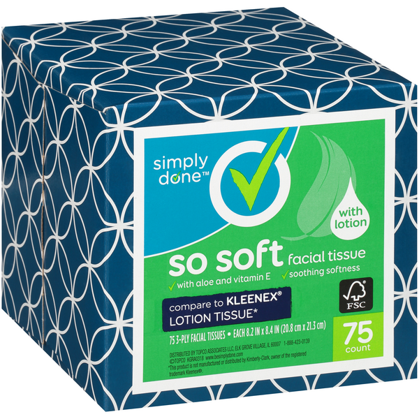 Simply Done Facial Tissue with Lotion