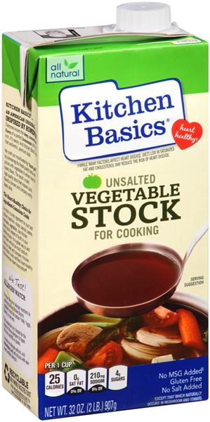 Kitchen Basics Unsalted Vegetable Stock