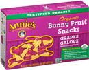 Annie's Grapes Galore Organic Bunny Fruit Snacks 5Ct