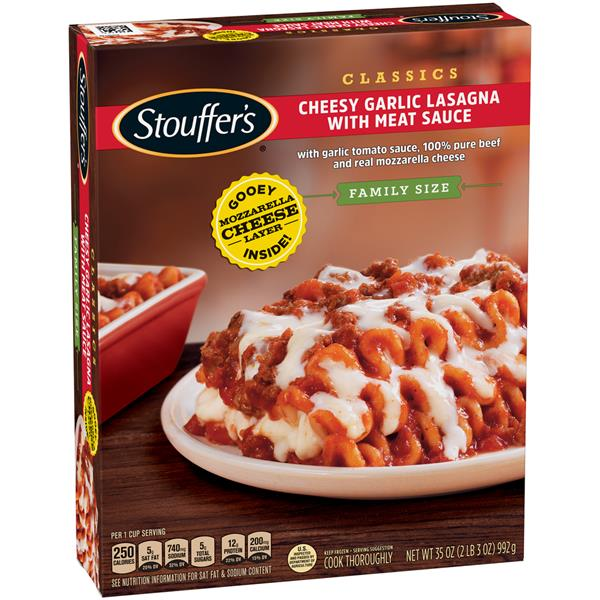 Stouffer's Family Size Cheesy Garlic Lasagna With Meat Sauce
