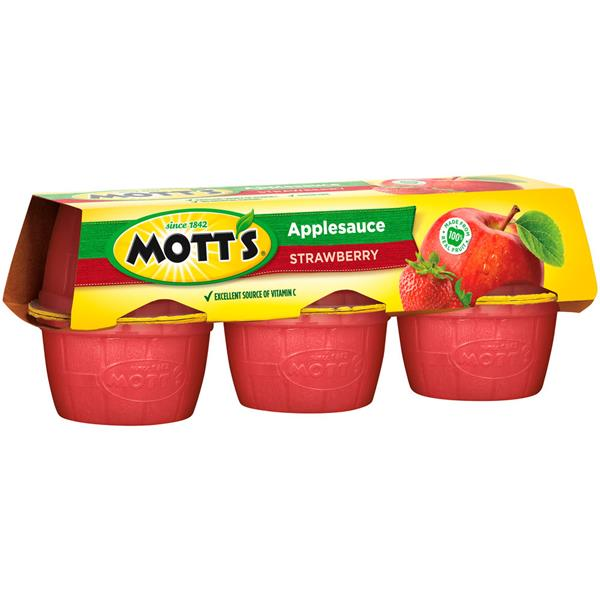 Mott's Strawberry Applesauce 6-4 Oz Containers