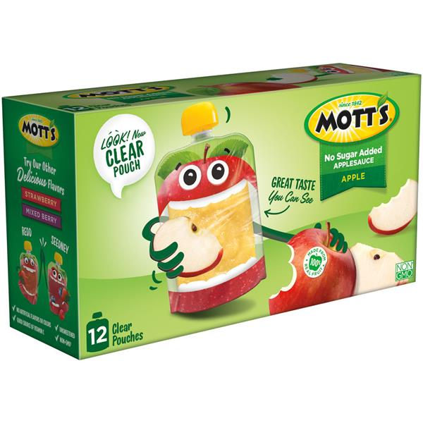 Mott's No Sugar Added Applesauce 12pk