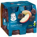 Gerber Nature Select 100% Apple Prune Juice 4 Pack