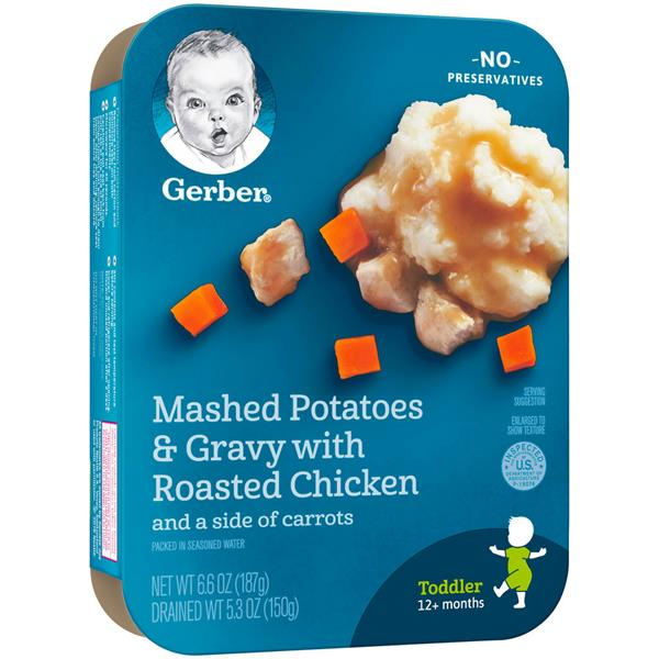 Gerber lil' Entrees Mashed Potatoes and Gravy with Roasted Chicken with Carrots