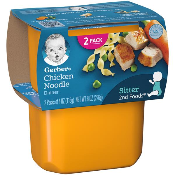 Gerber 2nd Foods Chicken Noodle Nutritious Dinner 2 Pack Hy Vee