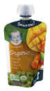 Gerber Organic 2nd Foods Mangoes, Apples, Carrots & Kale