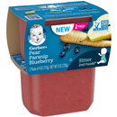 Gerber 2nd Foods Pear Parsnip Blueberry Baby Food, 2-4 Oz