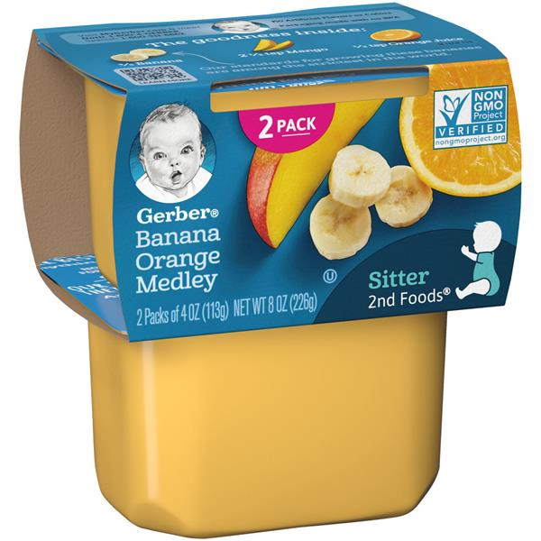 Gerber 2nd Foods Banana Orange Medley Baby Food 2 Pack Hy Vee