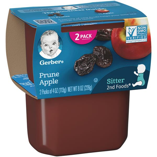 Gerber 2nd Foods Prunes With Apples 2 Pack Hy Vee Aisles