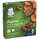 Gerber Organic Fruit & Veggie Bar, Date & Sweet Potato, 5 Count