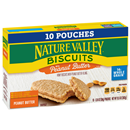 Nature Valley Biscuits with Peanut Butter 10-1.35 oz Pouches