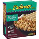 Delimex Chicken & Cheese Taquitos 18Ct