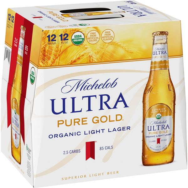 Michelob Ultra Pure Gold Superior Light Beer 12pk Hy Vee