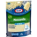Kraft Shredded Mozzarella Cheese Made With 2% Milk