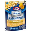 Kraft Shredded Triple Cheddar Cheese Blend with a Touch of Philadelphia