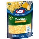 Kraft Shredded Mexican Style Cheddar Jack Cheese