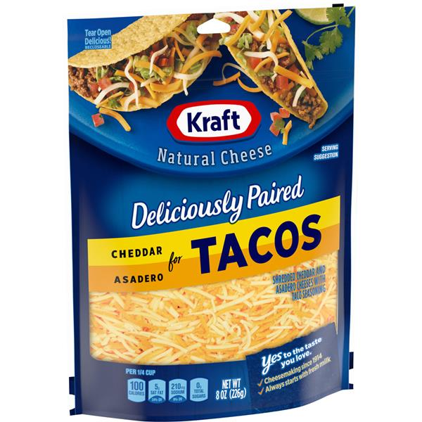 Kraft Shredded Mexican Style Taco Cheese