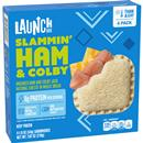Launch Box Slammin' Ham & Colby Sandwiches 4Ct