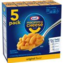 Kraft Original Flavor Macaroni & Cheese 5 -7.25 oz Boxes