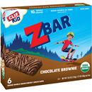 Clif Kid Z Bar Organic Baked Whole Grain Energy Snack Bars Chocolate Brownie - 6Ct