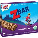 Clif Kid Z Bar Organic Baked Whole Grain Energy Snack Bars Chocolate Chip - 6Ct