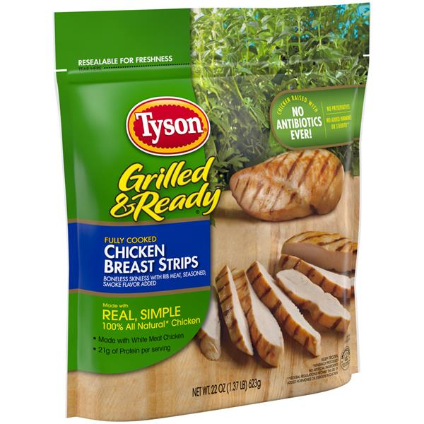 Tyson Grilled Ready Chicken Breast Strips Hy Vee Aisles