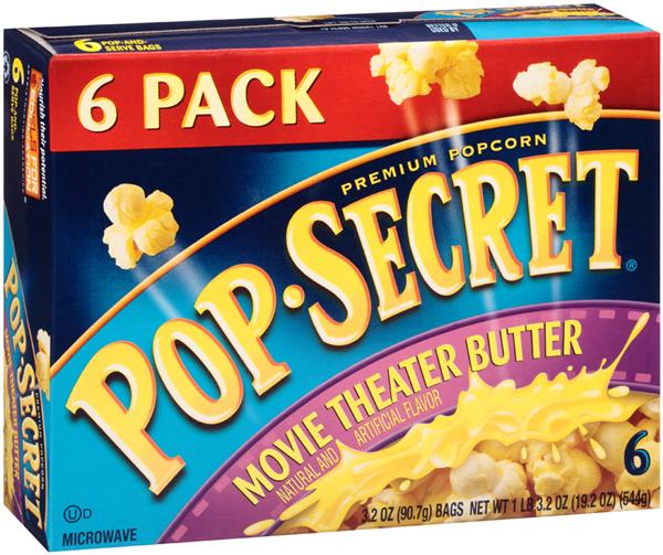 popsecret movie theater butter microwave popcorn 6ct hy