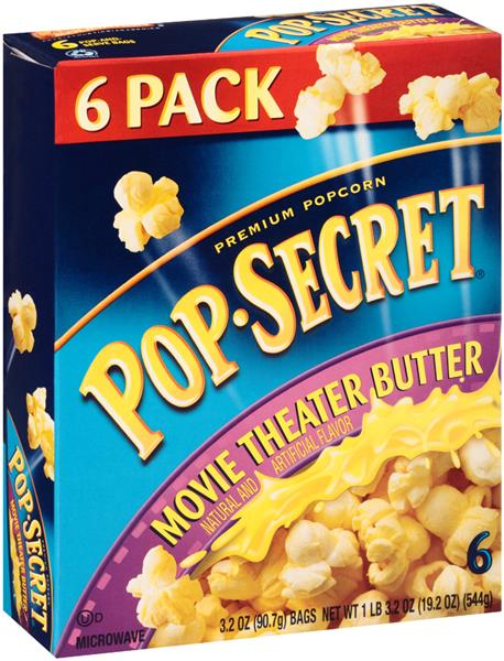 Pop Secret Movie Theater Er Microwave Popcorn 6ct