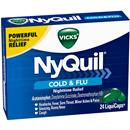 Vicks NyQuil Cold & Flu Nighttime Relief LiquiCaps