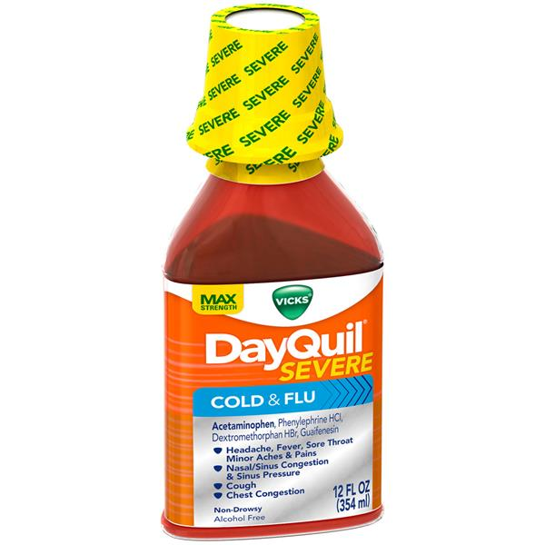 Vicks DayQuil Severe Max Strength Cold & Flu Relief Liquid