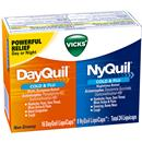 Vicks NyQuil Cold & Flu Nighttime Relief and DayQuil Cold & Flu Multi-Symptom Relief Convenience Pack