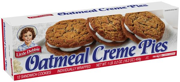 Little Debbie Individually Wrapped Oatmeal Creme Pies 12Ct