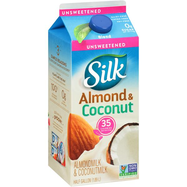Silk Unsweetened Almond Coconut Blend 0.5 Gal. Carton | Hy ...