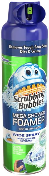 Scrubbing Bubbles Mega Shower Foamer With Ultra Cling Wide Spray Glade  Rainshower