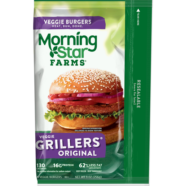 Morning Star Farms Grillers Original Veggie Burgers 4Ct