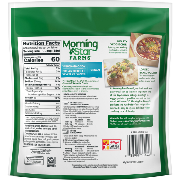 Morningstar Farms Meal Starters Grillers Crumbles