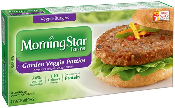 morningstar farms garden veggie patties veggie burgers 4 ct box hy vee aisles online grocery