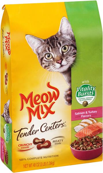 Meow Mix Tender Centers Salmon Amp Turkey Flavors With
