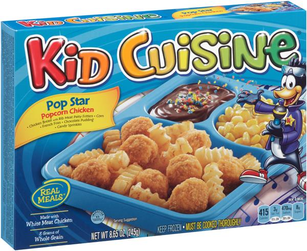 Kid cuisine pop star popcorn chicken frozen dinnerbox hy for Are kid cuisine meals healthy