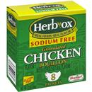 Herb-Ox Sodium Free Granulated Chicken Bouillon, 8Ct Packets