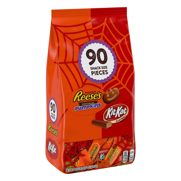 Halloween Reese's & Kit Kat Snack Size Assortment 90Ct