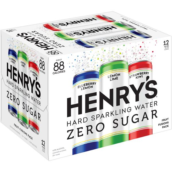 Henry's Passion Fruit, Lemon Lime and Strawberry Kiwi Hard Sparkling Water Variety Pack 12Pk
