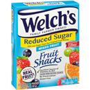 Welchs Reduced Sugar Fruit Snacks 8-0.8 oz Pouches